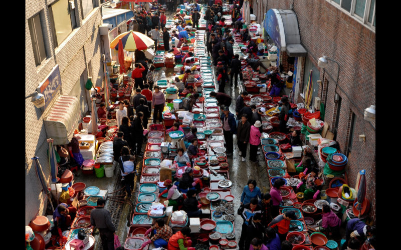 tongyeong jungang market panorama