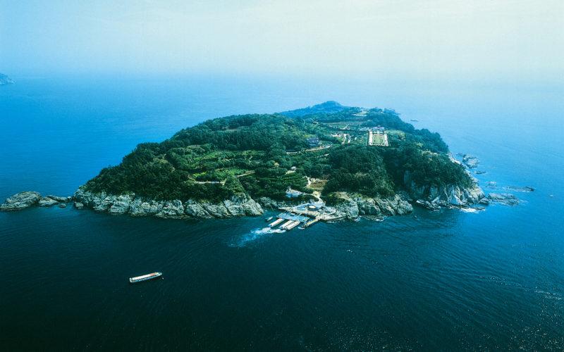 oedo island air view