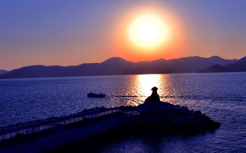 oedo island sunset