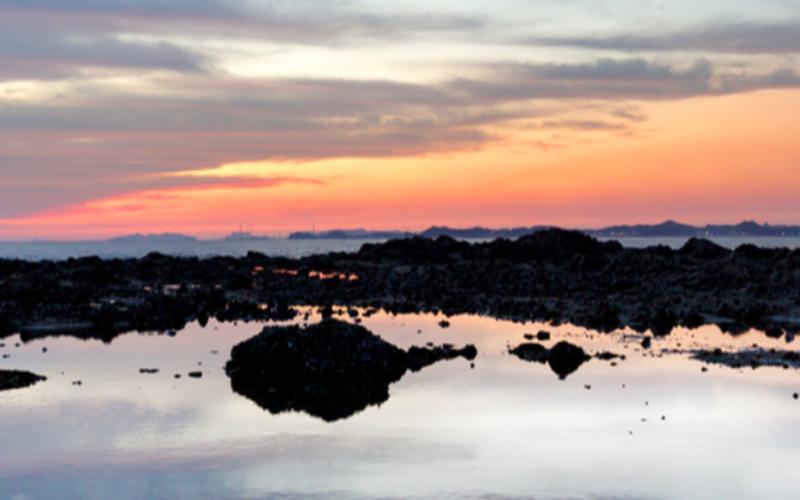 korea western coast sunset view
