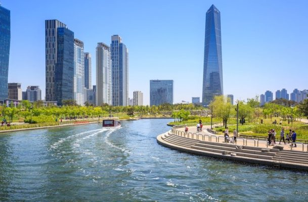 songdo city river view