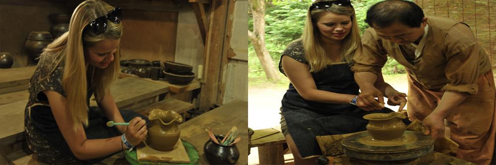 Pottery diy class in folk village