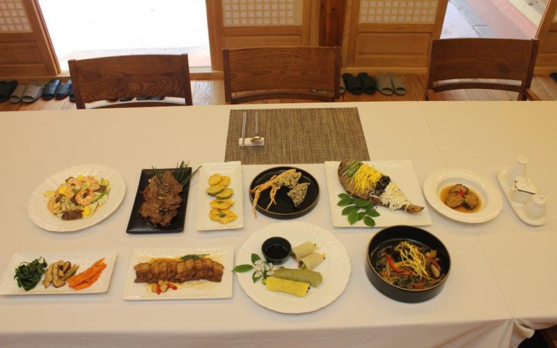 folk village menu korean lunch