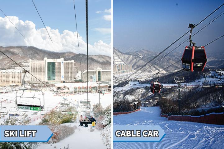 vivaldi park ski lift and resort view