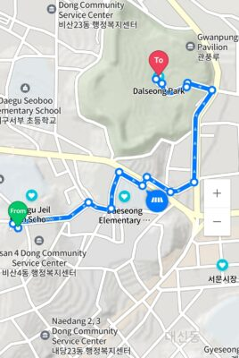 Bisan 4 donf Kindergarten to Dalseong Park