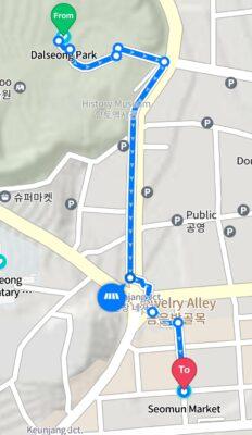 Dalseong Park to Seomun Market