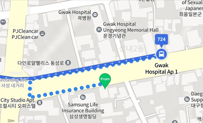 To Daeseong Elementary School from BAS