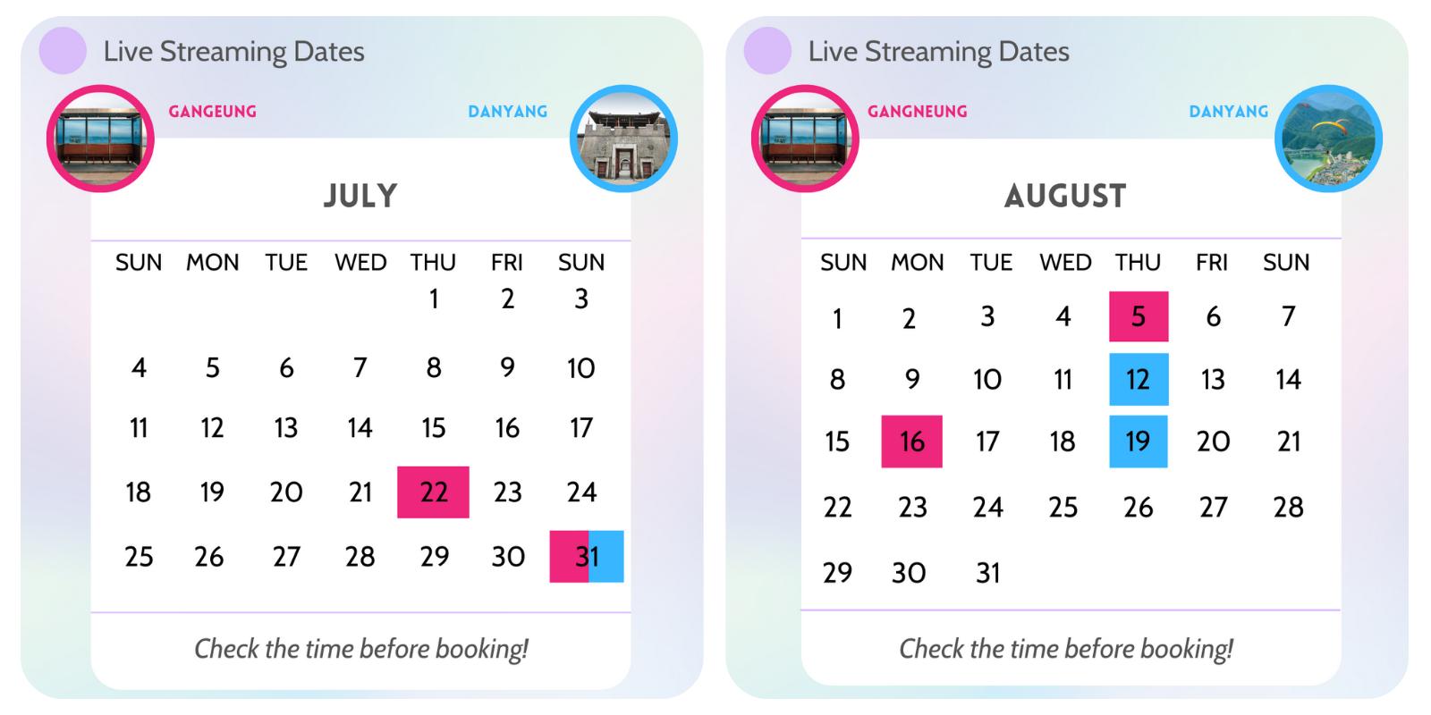 Gangneung & Danyang July / August