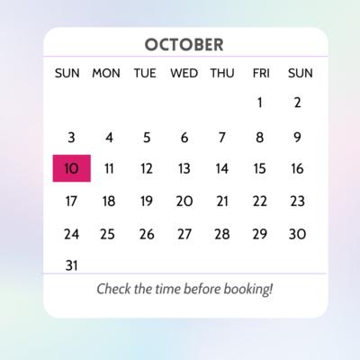 Calendar October - Flower